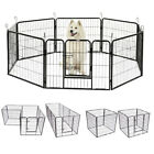 8 Panel Heavy Duty Metal Cage Crate Pet Dog Playpen Exercise Pen Fence Kennel