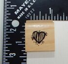 Hooks Lines  Inkers DJH Heart Rubber Stamp