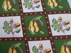 vtg antq Victorian style needlepoint embroidery panel cushion chair seat cover B