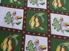 vtg antq Victorian style needlepoint embroidery panel cushion chair seat cover D