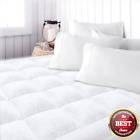 Top Mattress Queen Size Topper Cover Pad Quilted Pillow Bed Plush Hypoallergenic