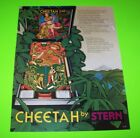Stern CHEETAH Original 1980 Flipper Game Arcade Pinball Machine Promo Flyer