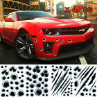 Cool 3d Bullet Fire Hole Monster Scratch Decal Motorcycle Car Decorative Sticker
