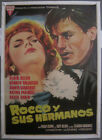 E186D ROCCO AND HIS BROTHERS VISCONTI DELON ORIGINAL 1sh SPANISH POSTER LINEN