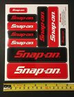 Snap on Genuine Logo Sticker Decal Sheet 75 x 625 Ten Various Size Stickers