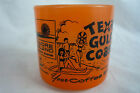 Federal Glass Mug Cup COFFEE BREAK Texas Gulf Coast Padre Beach Advertising