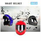 Bluetooth Motorcycle Helmets Integrated Modular Flip up Dual Speakers Visors FM