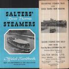 Salters River Thames Steamers Timetable 1957 Guide Handbook Oxford Reading trips