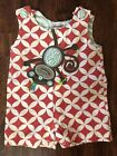 Mud Pie Boys Monkey Romper Shortall Outfit Size 9 12 Months Baby Boy Clothes