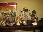 Members Mark 13 Piece Nativity Set Hand Painted Huge Holiday Collection 2007