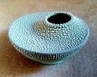 ROYAL HAEGER  MCM SPACE AGE SPACE UFO VASE TEXTURED GREEN & WHITE L@@K