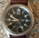 Elysee Automatic Mens Watch.  Date Ind, 21 Jewel, Coin Edge Bezel, Needs Repair.