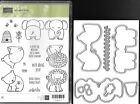 Stampin Up A Little Wild stamp set with matching Little Loves framelits