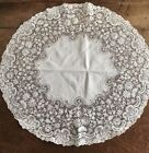 Large Antique Handmade Lace Doily