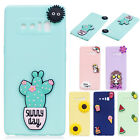 Cute 3D Pattern Rubber Silicone Back Case Cover For Samsung Galaxy S9 Plus S8 S7