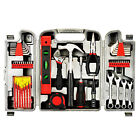 53Pc Home Hand Tool Set Kit Household Tools Mechanics Remover Repair Case Red