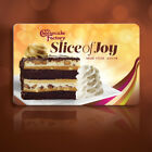 TWO 2 CHEESECAKE FACTORY GIFT CARD SLICE OF JOY E GIFTCARD FREE SLICES 3 31 18