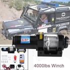 Electric 12V 4000LBS/1814kg Boat ATV 4WD Winch Steel Cable With Remote Switch US
