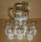 Glass Set White Gold Rose Floral pattern Ice Lip Juice Glasses