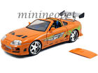 JADA 97505 THE FAST AND FURIOUS BRIANS TOYOTA SUPRA 1 18 DIECAST CAR ORANGE