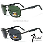 Mens Womens Retro Vintage Rectangular Metal Polarized Driving Fishing Sunlgasses