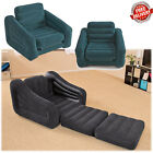 Inflatable Bed Blow Pull Out Chair And Twin Air Mattress Sofa Up Dorm Camping