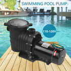 20HP Portable 110 120V In Ground Swimming Pool Pump Motor Strainer Above ground