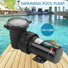 15HP Portable 110 120VSwimming Pool Water Pump Electric Pressure Water Filter