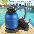 13 Sand Filter Above Ground 035HP Pro 2450GPH 10000GAL Swimming Pool Pump