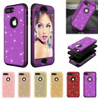 Bling Glitter Heavy Duty Protection Bumper Cover Case for IPhone X 6 6S 7 8 Plus