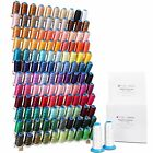 MACHINE EMBROIDERY STARTER SET 120 POLYESTER COLORS THREAD BOBBIN STABILIZER