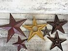 Vintage cast Iron Architectural metal Stars Lot of 6 building Anchors