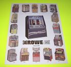 Rowe AMI Original 1991 Jukebox Sales Flyer 16 Models + LaserStar America CD-100B