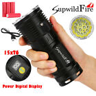Supwildfire 50000LM CCC 15 x XM-L T6 LED Power Digital Display Hunting Flashligt