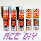 6 Pack C3 310 ml General Purpose Silicone Sealant Clear White Brown Black Grey