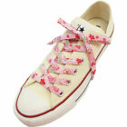 Japanese Chirimen Shoelaces for Sneakers 117cm 46inch Pink