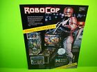 Data East ROBOCOP Original 1989 NOS Flipper Game Pinball Machine Sale Flyer Rare