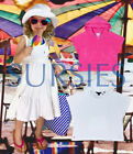 POLO RALPH LAUREN COVERUPS Girls Terry Hoodie Dress Swimsuit Coverups Pink White