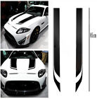 2X Glossy Black Racing Sports Vinyl Hood Decals Stickers Washable for Car Truck