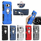 2 in 1 Magnet + Supporter Ring Hybrid Shockproof Stand Case Cover For Samsung