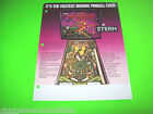 QUICKSILVER By STERN 1980 ORIGINAL PINBALL MACHINE PROMO SALES FLYER