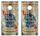 Vintage Pabst Blue Ribbon Beer Beer Can Barnwood Cornhole Board Wraps 2561