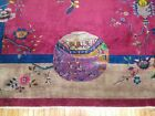 Antique Chinese Art Deco Rug Size 11'11''x14'3''