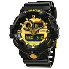 Casio G-Shock Gold-Tone Dial Black Resin Mens Watch GA-710GB-1ACR