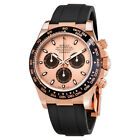 Rolex Cosmograph Daytona Pink and Black Dial Mens Chronograph Oysterflex Watch