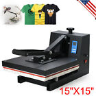 15X15 T Shirt Cap Heat Press Transfer Machine Sublimation High Pressure LCD US