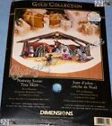 Dimensions Gold NATIVITY SCENE Christmas Tree Skirt Counted Cross Stitch Kit