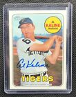 AL KALINE 2018 TOPPS HERITAGE REAL ONE AUTOGRAPH AUTO 1969 STYLE TIGERS