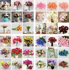 Floral Wedding Party Pretty Artificial Silk Fake Leaf Peony Flowers Home Decors