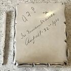 Hallmarked 1910 Aide Memoire Card Case Original Pencil Antique Silver Leather